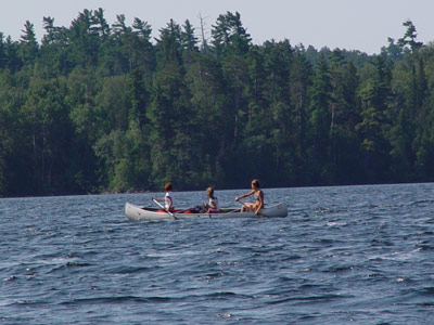 Crossing the waters of Lake Temagami