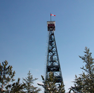 The Restored Caribou Mountain Fire Tower.